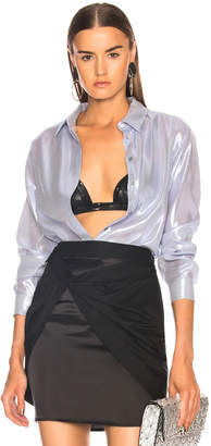 Alberta Ferretti Metallic Silk Shirt