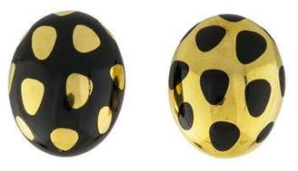 Tiffany & Co. 18K Positive Negative Polka Dot Earrings