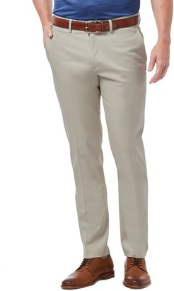 Haggar Men's Premium No-Iron Khaki Stretch Slim-Fit Flat-Front Pants