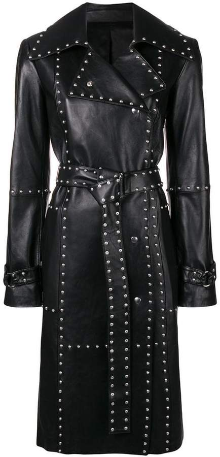 Helmut Lang studded leather trench