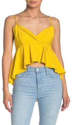 Line & Dot Ninette Ruffle High/Low Tank