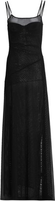 Amanda Wakeley Mesh-paneled Stretch-knit Dress