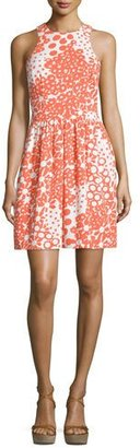 Trina Turk Sleeveless Floral-Print Dress, Coral $194 thestylecure.com