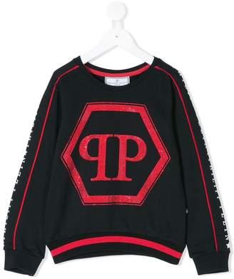 Philipp Plein Junior long-sleeve printed sweatshirt