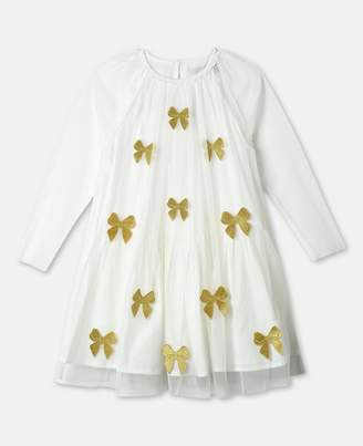 Stella McCartney misty gold bows dress