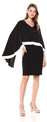 SL Fashions Women's Cape Dress