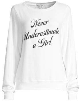Wildfox Couture Women's Underestimate Sweatshirt - Clean White - Size XS
