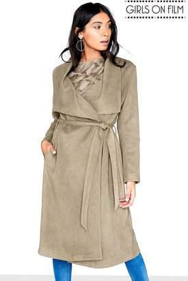 Next Womens Girls On Film Textured Suedette Trench Coat