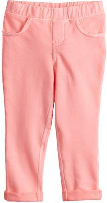 Osh Kosh Baby Girl Jumping Beans Solid Roll-Cuff Jeggings