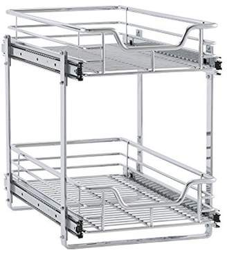 "Household Essentials Glidez 11.5"" 2-Tier Dual Sliding Cabinet Organizer"