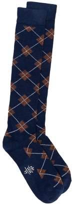 Eleventy rhomb printed elongated socks
