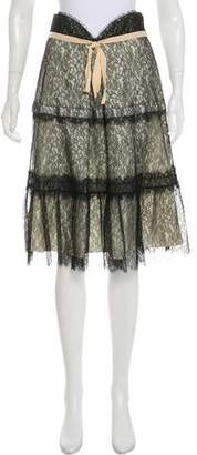 Nina Ricci Knee-Length Lace Skirt