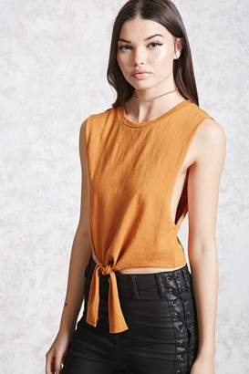 Forever 21 Knotted Muscle Tee