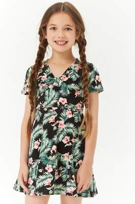 Forever 21 Girls Tropical Print Skater Dress (Kids)