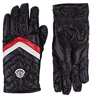 Moncler Men's Logo Quilted Gloves - Black