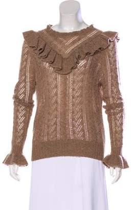 Ulla Johnson Ruffle-Accented Cashmere Sweater