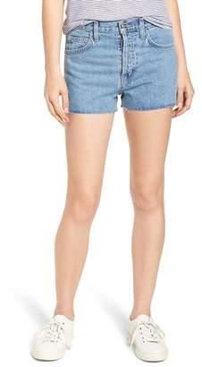 Current\u002FElliott Ultra High Waist Shorts (Prep with Cut Hem)