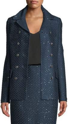 St. John Shimmer Sequin Knit Jacket