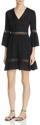 Rebecca Minkoff Merryl Crocheted Trim Dress $178 thestylecure.com