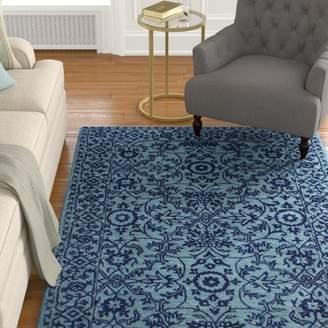 Blue Area Alcott Hill Hiebert Hand-Woven Wool Rug