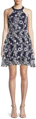 J.o.a. Women's Floral Lace Halter Dress