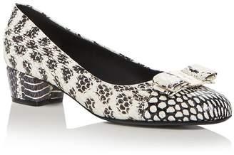 8ca26542b7 Salvatore Ferragamo Women's Vara Block-Heel Pumps