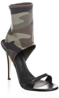 Giuseppe Zanotti Camo-Print Leather Sock Sandals