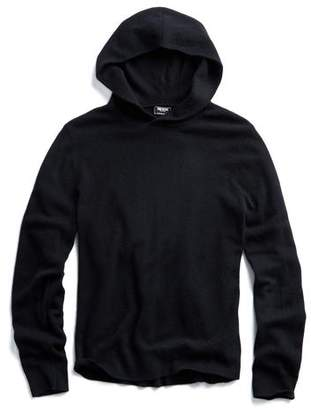 Todd Snyder Cashmere Popover Hoodie in Black