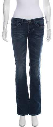William Rast Low-Rise Straight Jeans
