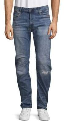 G Star Distressed Faded Jeans