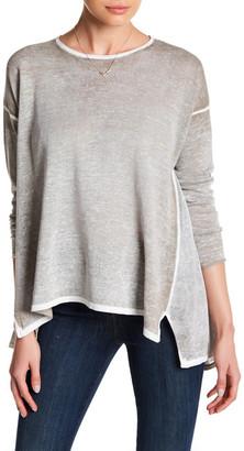 Cullen Mesh Side Draped Shirt $175 thestylecure.com