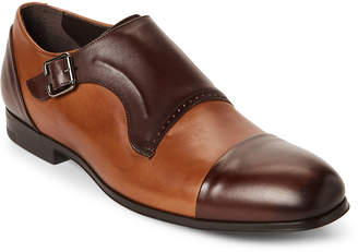Bacco Bucci Dark Brown Pinelli Monk Strap Loafers