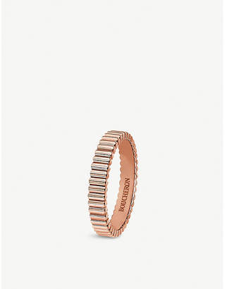 Boucheron Quatre Grosgrain 18ct rose gold wedding band