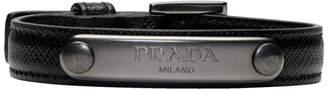 Prada Black Saffiano ID Bracelet