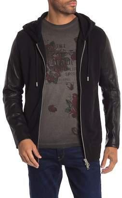 Diesel Hooded Leather Jacket