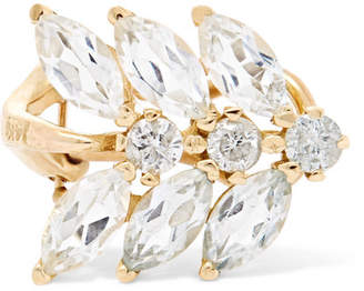 Loren Stewart Aura 14-karat Gold, Diamond And Topaz Ear Cuff