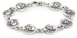 King Baby Studio Sterling Silver Skull & Bone Bracelet