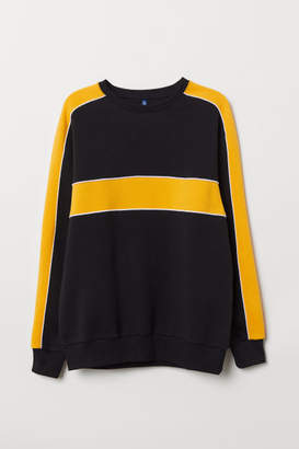 H&M Color-Block Sweatshirt - Black