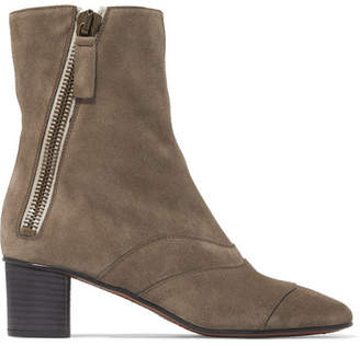 Chloé Lexie Suede Ankle Boots - Mushroom