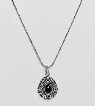 Reclaimed Vintage Inspired Pendant Locket Necklace