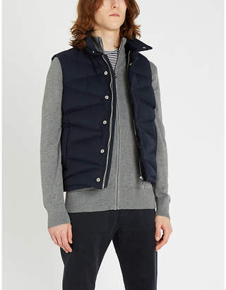 Tommy Hilfiger Cotton-blend funnel-neck zipped cardigan