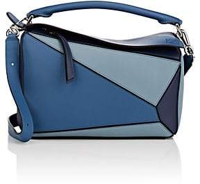 Loewe Women's Puzzle Medium Leather Shoulder Bag - Blue