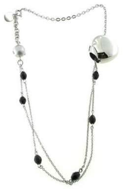 Breil Milano Stainless Steel and Black Onyx Bracelet