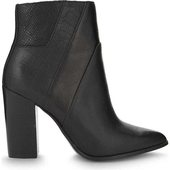Aldo Zelina leather heeled ankle boots