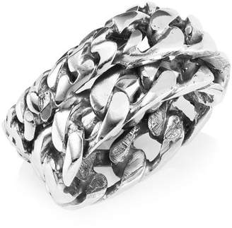 Sterling Silver Chain Ring