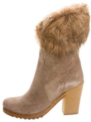 Prada Sport Faux Fur Trim Ankle Boots w/ Tags