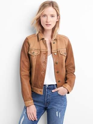 Gap Limited edition studded leather biker jacket