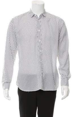 Saint Laurent Heart Print Button-Up Shirt