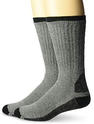 Wigwam Men's At Work Double Duty 2-Pack Crew Length Work Sock
