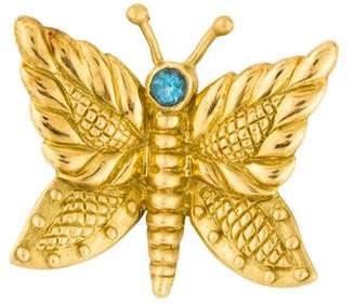 Judith Ripka 18K Topaz Butterfly Brooch